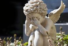 άγγελος λυπημένος στοκ φωτογραφία