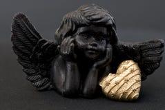 άγγελος μαύρος λίγα Στοκ Φωτογραφία
