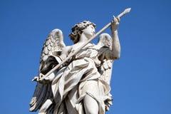 Άγγελος με τη λόγχη, Ponte Sant Angelo στη Ρώμη Στοκ Εικόνα