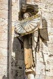 Άγγελος με το ηλιακό ρολόι Στοκ Φωτογραφίες