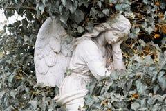 Άγγελος σε ένα νεκροταφείο Στοκ Φωτογραφίες