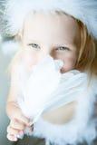 άγγελος ως ντυμένο κορίτσι Στοκ φωτογραφίες με δικαίωμα ελεύθερης χρήσης