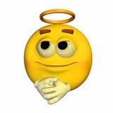 άγγελος emoticon Στοκ εικόνες με δικαίωμα ελεύθερης χρήσης