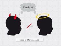 Άγγελοι & δαίμονες Στοκ Εικόνα