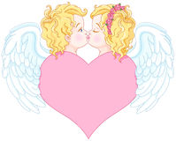 Άγγελοι ερωτευμένοι Στοκ φωτογραφία με δικαίωμα ελεύθερης χρήσης
