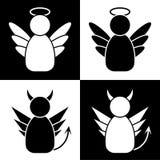 Άγγελοι και δαίμονες απεικόνιση αποθεμάτων
