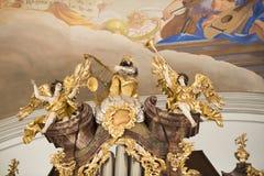 άγγελοι που κάνουν τη μο στοκ εικόνες