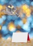 Άγγελοι που τραγουδούν τη κάρτα Χριστουγέννων Στοκ εικόνα με δικαίωμα ελεύθερης χρήσης
