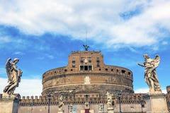 Άγγελοι Ρώμη Ιταλία Ponte Sant Angelo Βατικανό Bernini Castel Στοκ φωτογραφίες με δικαίωμα ελεύθερης χρήσης