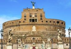 Άγγελοι Ρώμη Ιταλία Ponte Sant Angelo Βατικανό Bernini Castel Στοκ Εικόνα