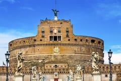 Άγγελοι Ρώμη Ιταλία Ponte Sant Angelo Βατικανό Castle Bernini Castel Στοκ φωτογραφία με δικαίωμα ελεύθερης χρήσης