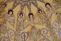 Άγγελοι σε μια εκκλησία θόλων στοκ φωτογραφία με δικαίωμα ελεύθερης χρήσης