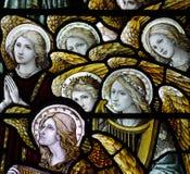 Άγγελοι στο λεκιασμένο γυαλί στοκ φωτογραφία με δικαίωμα ελεύθερης χρήσης