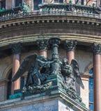 Άγγελοι του καθεδρικού ναού Αγίου Isaac's, η Αγία Πετρούπολη, Ρωσία Στοκ Εικόνα