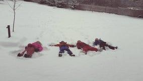Άγγελοι χιονιού Στοκ φωτογραφίες με δικαίωμα ελεύθερης χρήσης