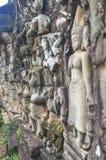 Άγγελοι Angkor στο ναό Angkor Wat Angkor Thom - Siem συγκεντρώνει Στοκ Φωτογραφία