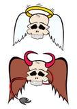 Άγγελος και διάβολος Στοκ Φωτογραφία