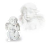 Άγγελος και καρδιά Στοκ Εικόνα