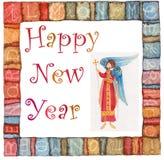 Άγγελος καλής χρονιάς απεικόνιση αποθεμάτων
