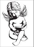 Άγγελος με ένα βιβλίο Στοκ εικόνα με δικαίωμα ελεύθερης χρήσης