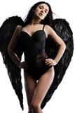 Άγγελος με τα φτερά στο λευκό Στοκ εικόνα με δικαίωμα ελεύθερης χρήσης