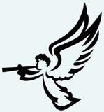 Άγγελος με τη σάλπιγγα διανυσματική απεικόνιση