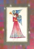 Άγγελος με τη σάλπιγγα ελεύθερη απεικόνιση δικαιώματος