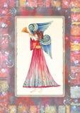Άγγελος με τη σάλπιγγα απεικόνιση αποθεμάτων