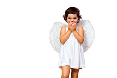 Άγγελος μικρών κοριτσιών Στοκ φωτογραφία με δικαίωμα ελεύθερης χρήσης