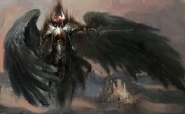 άγγελος πεσμένος διανυσματική απεικόνιση
