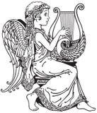 Άγγελος που παίζει lyre Στοκ φωτογραφία με δικαίωμα ελεύθερης χρήσης