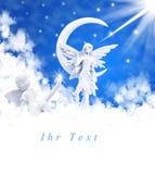 Άγγελος στα σύννεφα Στοκ Εικόνες