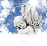 Άγγελος στον ήλιο Στοκ Φωτογραφίες