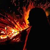 Άγγελος της πυρκαγιάς Στοκ φωτογραφία με δικαίωμα ελεύθερης χρήσης