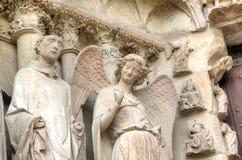 Άγγελος χαμόγελου Καθεδρικός ναός της Notre-Dame de Reims Γαλλία Reims Στοκ εικόνα με δικαίωμα ελεύθερης χρήσης