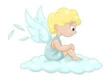 άγγελος χαριτωμένος λίγ& Στοκ Εικόνες