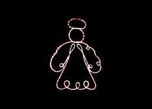 Άγγελος χιονανθρώπων κινούμενων σχεδίων στο φεστιβάλ Στοκ φωτογραφίες με δικαίωμα ελεύθερης χρήσης