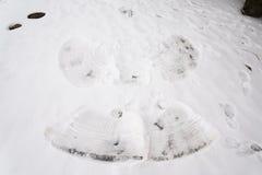 Άγγελος χιονιού στο πάτωμα Στοκ Φωτογραφία