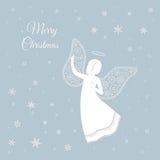 Άγγελος Χριστουγέννων με τα διακοσμητικά φτερά Στοκ φωτογραφία με δικαίωμα ελεύθερης χρήσης