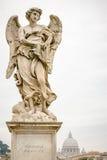 Άγγελος Bernini στο ponte Sant ` Angelo στη Ρώμη Στοκ Φωτογραφία
