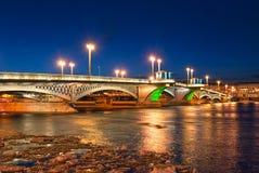Άγιος †«Πετρούπολη Ρωσία Η Annunciation Blagoveshchensky γέφυρα Στοκ Φωτογραφίες