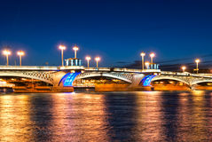 Άγιος †«Πετρούπολη Ρωσία Η Annunciation Blagoveshchensky γέφυρα Στοκ φωτογραφία με δικαίωμα ελεύθερης χρήσης