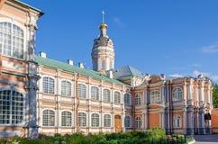 Άγιος Αλέξανδρος Nevsky Lavra με την εκκλησία του ιερού Princ Στοκ εικόνες με δικαίωμα ελεύθερης χρήσης