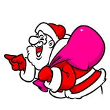 Άγιος Βασίλης γελά κινούμενα σχέδια Στοκ Φωτογραφία