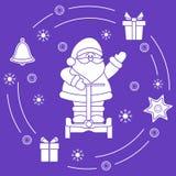 Άγιος Βασίλης, δώρα, κουδούνι, μελόψωμο ελεύθερη απεικόνιση δικαιώματος