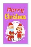 Άγιος Βασίλης και αρωγός στα παραδοσιακά κοστούμια απεικόνιση αποθεμάτων
