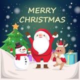 Άγιος Βασίλης και τάρανδος απεικόνιση αποθεμάτων