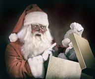 Άγιος Βασίλης και Teddy αντέχουν Στοκ Φωτογραφίες