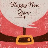 Άγιος Βασίλης, καλή χρονιά - απεικόνιση κινούμενων σχεδίων διανυσματική απεικόνιση