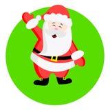 Άγιος Βασίλης με αυξημένο έναν δεξή ελεύθερη απεικόνιση δικαιώματος